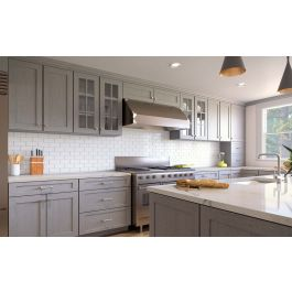 AN-KTC-KIT 10x10 Kitchen Cabinets Collection Kit - RTA | Nova Light Grey  Shaker Door Style by TSG Forevermark Cabinetry