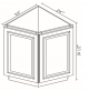 Small Image of AB24 Uptown White (TW) - Angle Base Cabinet
