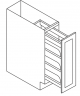 Small Image of BFP09 Uptown White (TW) - Base Pull Out with Spice Rack