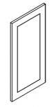 Small Image of EPW1236D Uptown White (TW) - Decorative Wall End Door