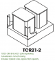 Small Image of TCR21-2 Sienna Rope (MR) - Double Trash Can Cabinet