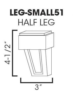 Thumbnail Image of LEG-SMALL51 Sienna Rope (MR) - Half Decor Leg