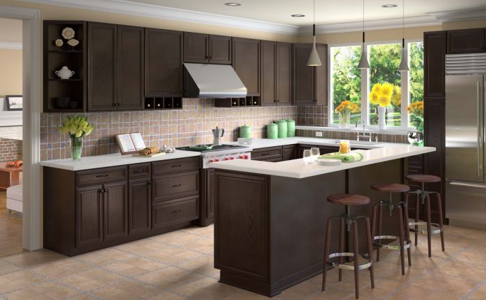 KE-KTC-KIT 10x10 Kitchen Cabinets Collection Kit - RTA   K-Espresso Door  Style by TSG Forevermark Cabinetry