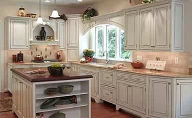 SL-KTC-KIT 10x10 Kitchen Cabinets Collection Kit - RTA   Signature Pearl  Door Style by TSG Forevermark Cabinetry
