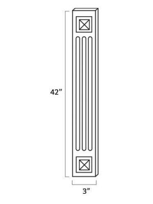 Small Image of A42WF Uptown White (TW) - Fluted Decorative Wall Filler