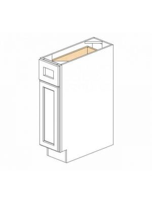Small Image of B09 Ice White Shaker (AW) - Single Door Base Cabinet