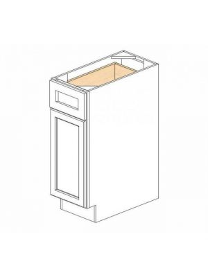 Small Image of B12 Ice White Shaker (AW) - Single Door Base Cabinet