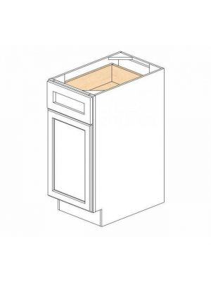 Small Image of B15 Ice White Shaker (AW) - Single Door Base Cabinet