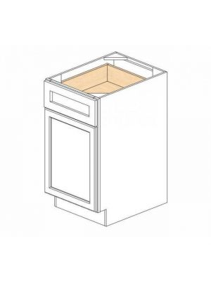 Small Image of B18 Ice White Shaker (AW) - Single Door Base Cabinet