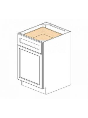 Small Image of B21 Ice White Shaker (AW) - Single Door Base Cabinet