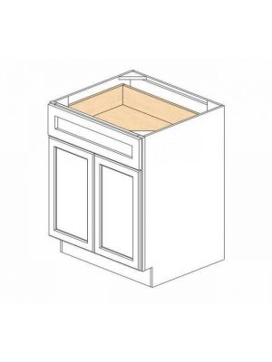 Small Image of B24B Ice White Shaker (AW) - Double Door Base Cabinet