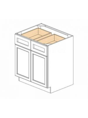 Small Image of B30B Ice White Shaker (AW) - Double Door Base Cabinet