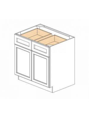 Small Image of B33B Greystone Shaker (AG) - Double Door Base Cabinet