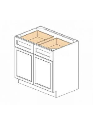 Small Image of B36B Ice White Shaker (AW) - Double Door Base Cabinet