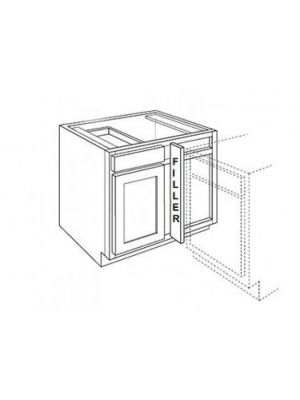 Small Image of BBLC42-45-39W Ice White Shaker (AW) - Base Blind Corner Cabinet