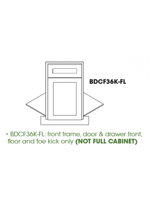Small Image of BDCF36K-FL Ice White Shaker (AW) - Base Diagonal Corner Floor Cabinet