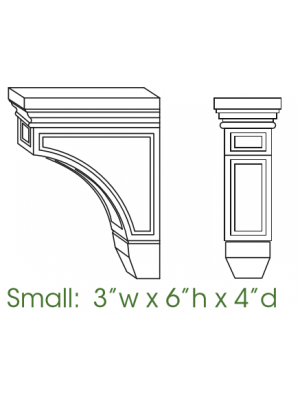 Small Image of CORBEL54 K-Espresso (KE) - Decorative Small Corbel