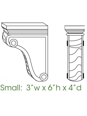 Small Image of CORBEL55 Sienna Rope (MR) - Decorative Small Corbel