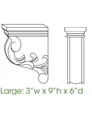 Small Image of CORBEL57 Uptown White (TW) - Decorative Large Corbell
