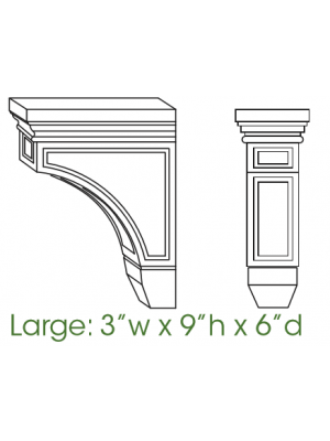 Small Image of CORBEL59 Ice White Shaker (AW) - Decorative Large Corbell