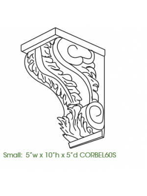 Small Image of CORBEL60S Uptown White (TW) - Decorative Small Corbel