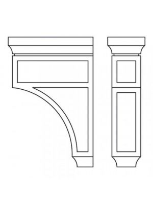 Small Image of CORBEL75L Ice White Shaker (AW) - Decorative Large Corbell