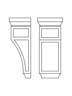 Small Image of CORBEL75M Uptown White (TW) - Decorative Medium Corbell