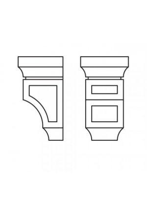 Small Image of CORBEL75S Ice White Shaker (AW) - Decorative Small Corbel