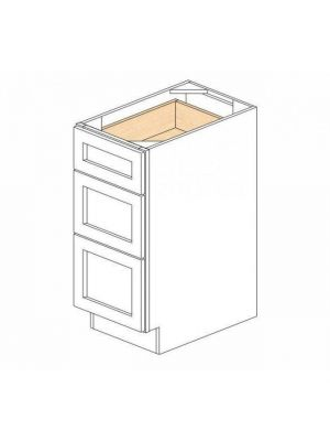Small Image of DB12-3 Ice White Shaker (AW) - 3 Drawer Pack Base Cabinet