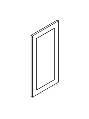 Small Image of EPW1236D Gramercy White (GW) - Decorative Wall End Door
