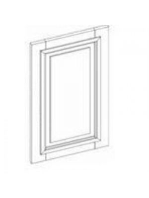 Small Image of EPWP2484D Ice White Shaker (AW) - Decorative Wall End Door