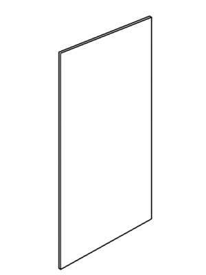 Small Image of FBP489614 K-White (KW) - Finished Back Panel