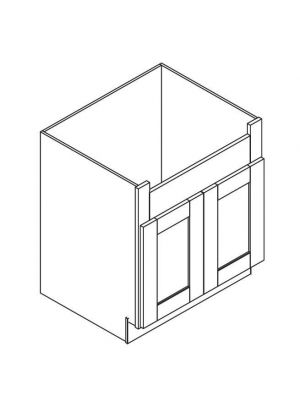 Small Image of FSB36B Ice White Shaker (AW) - Farm Sink Base Cabinet