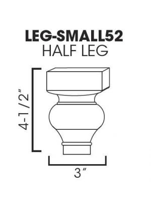 Small Image of LEG-SMALL52 Sienna Rope (MR) - Half Decor Leg