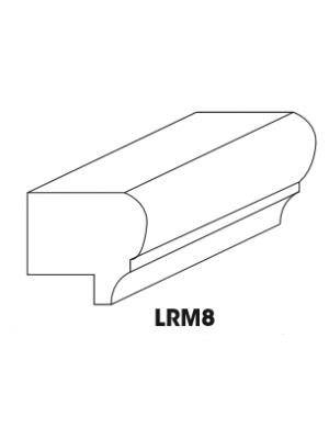 Small Image of LRM8 K-White (KW) - Traditional Light Rail Molding