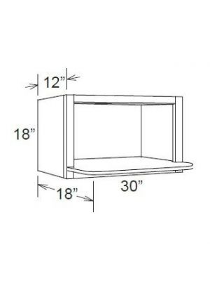 Small Image of MWO3018PM-12 Uptown White (TW) - Microwave Oven Wall Cabinet