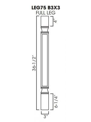 Small Image of POLE75-B3 Ice White Shaker (AW) - Trimmable Half Decor Leg including WF3