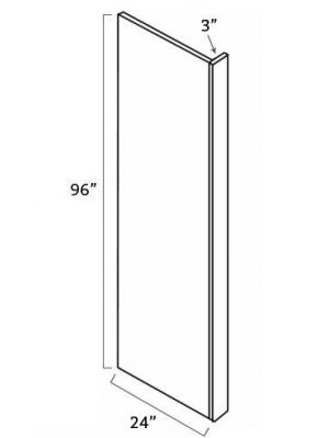 Small Image of REP2496-3 Ice White Shaker (AW) - Refrigerator End Panel