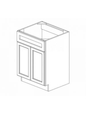 Small Image of S2421B-34 Ice White Shaker (AW) - Sink Base Vanity with Drawers