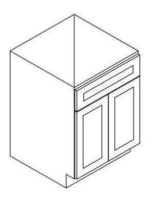 Small Image of SB24 Ice White Shaker (AW) - Sink Base Cabinet