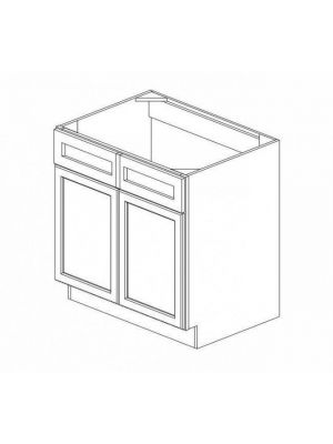 Small Image of SB42 Ice White Shaker (AW) - Sink Base Cabinet