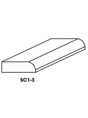 Small Image of SC1-3-SM Ice White Shaker (AW) - Bull Nose Scribe Molding