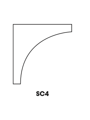 Small Image of SC4-ICM Nova Light Grey Shaker (AN) - Inside Corner Molding