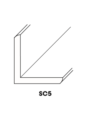 Small Image of SC5-OCM Ice White Shaker (AW) - Outside Corner Molding