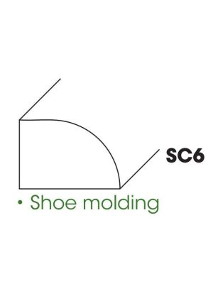 Small Image of SC6-SM Ice White Shaker (AW) - Shoe Molding