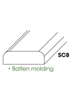 Small Image of SC8-BM Ice White Shaker (AW) - Batten Molding