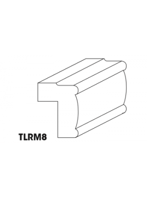 Small Image of TLRM8 K-White (KW) - Traditional Light Rail Molding