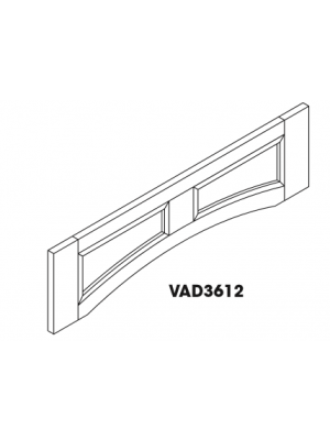 Small Image of VAD3612 Ice White Shaker (AW) - Arch Panel Valance