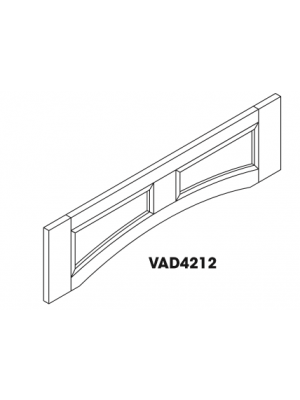 Small Image of VAD4212 Ice White Shaker (AW) - Arch Panel Valance