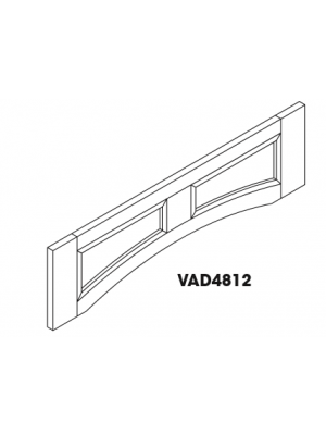 Small Image of VAD4812 Ice White Shaker (AW) - Arch Panel Valance